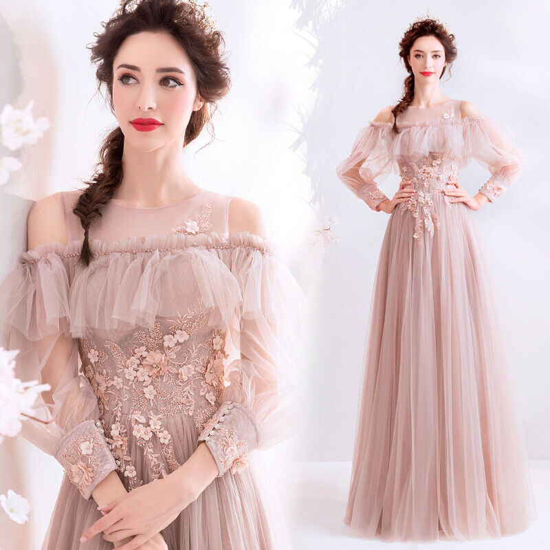 Noble Evening Formal Party Ball Gown Prom Bridesmaid Embroiderot Dress TSJY1726