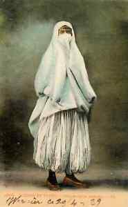 Szenen-und-Typen-CPA-Maurische-Veiled-IN