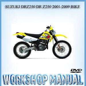 suzuki drz250 dr z250 2001 2009 bike workshop repair service manual rh ebay com au 2006 Suzuki Marauder 250 Specs Suzuki 250 Mikuni Carbs