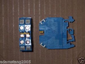 Wieland WK 6U Blue Terminal Block 600 Volt 45 Amp W 2 Pole Jumper