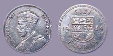 Fiji 1934 Florin, Rare High Grade, High Grade, Luster, Sharp, Low Mtg 200,000