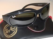 1697e4aa68 item 1 RAY BAN RB4033 601 3N GLOSSY BLACK G15 UV CRYSTAL GLASS WRAP  SUNGLASSES w CASE -RAY BAN RB4033 601 3N GLOSSY BLACK G15 UV CRYSTAL GLASS  WRAP ...