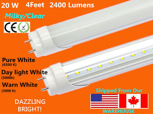 G13 4ft 20w milkyclear t8 48 led tube light fluorescent image is loading g13 4ft 20w milky clear t8 48 034 publicscrutiny Choice Image
