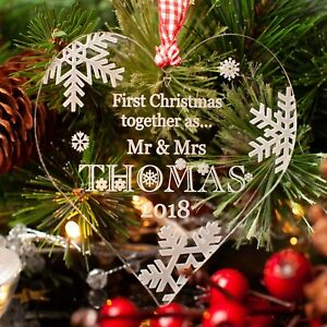 Premier-Noel-Personnalise-Love-Coeur-Arbre-de-Noel-Decoration-Babiole-Cadeau-clair