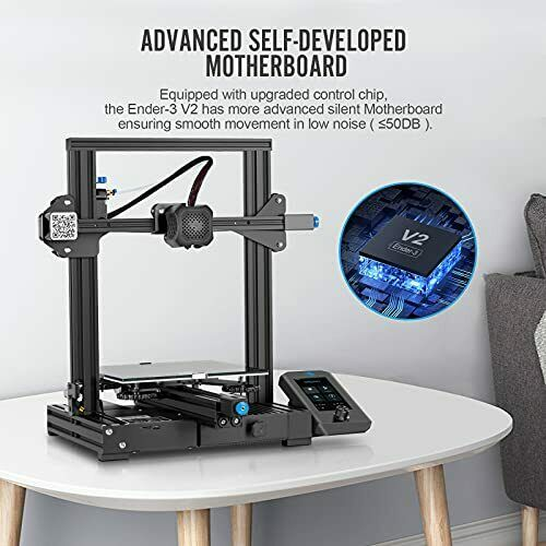 Creality Ender 3 V2 3D Printer Silent Mainboard Meanwell Power Supply Carboru...