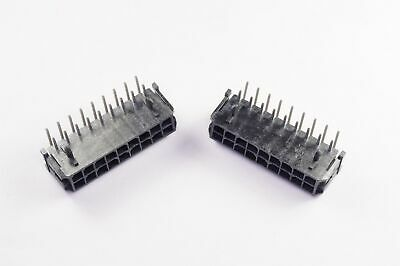 Pack of 2 40 POS 2x20 2.0mm Female Socket Header Right Angle Through Hole