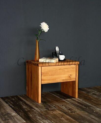 Massivholz Nachtkommode Wildeiche geölt NEU Nachttisch Nachtkonsole Nachtschrank
