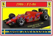1/43 - FERRARI F1-86 - Stefan JOHANSSON - 1986 - Die-cast
