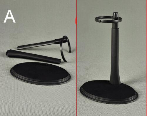 1//6 ZY Toys Black Waist U Type Display Stand F 12-inch Figure Adjustable Height