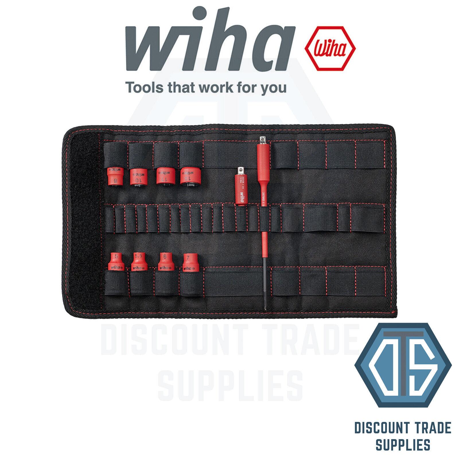 WIHA 43466 Socket Insert 1 4  set TorqueVario®-S Electric Mixed 10 pcs.