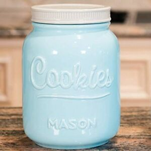 Image Is Loading Mason Cookie Jar Lid Ceramic Storage Kitchen Container