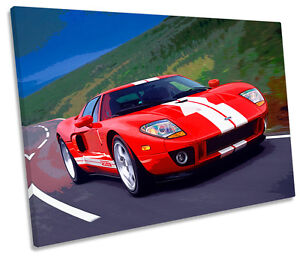Image Is Loading Ford Gt Super Car Single Canvas Wall Art