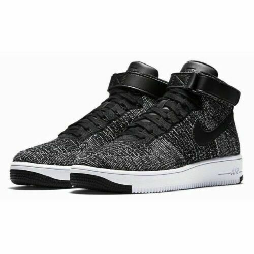 "Nike Air Force 1 Ultra Flyknit Size 8.5 ""OREO"" Black White shoes 817420-004 NEW"