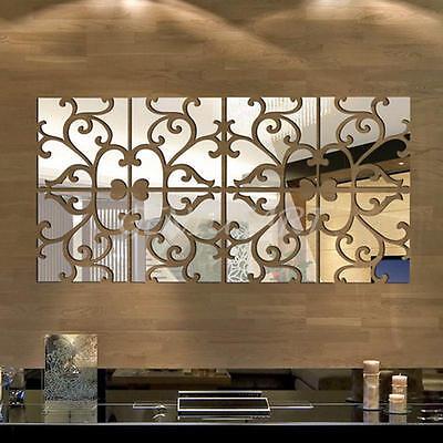 Removable  3D DIY Art Modern Mirror Wall Sticker Decor Decal Home Room