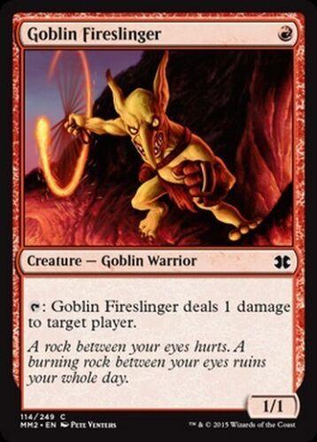 Goblin Fireslinger MTG MAGIC MM2 2015 Eng 2x FOIL Goblin Lanciafuoco