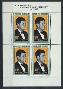 Gabon-Bloc-N-3-MNH-1964-John-F-Kennedy
