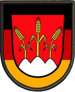 Wappen-von-Dinkelsbuehl-Patch-Aufnaeher-Pin-Aufbuegler