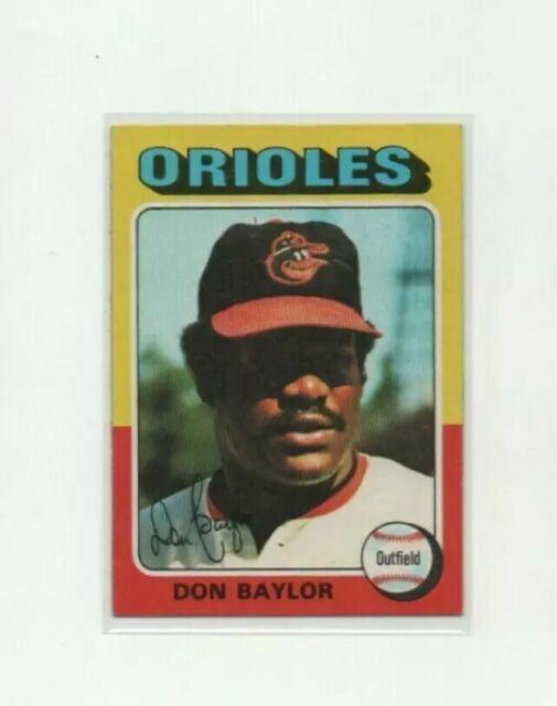 1975 Topps Don Baylor Baseball Card #382 - Baltimore Orioles HOF