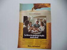 advertising Pubblicità 1978 BIRRA E SAI COSA BEVI