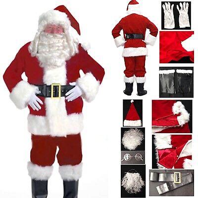 Abito Babbo Natale.Vestito Costume Babbo Natale Completo Cosplay Santa Claus Christmas Suit Santc05 Ebay