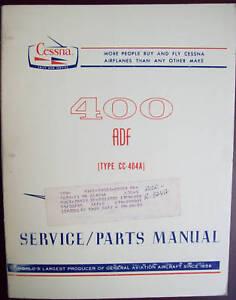cessna 400 adf cc 404a service parts manual ebay rh ebay com Cessna 182 Parts Manual Cessna 170 Parts Manual