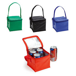 Image Is Loading 4 Can Insulated Cool Bag Mini Snack Sandwich