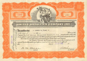 United-Royalties-Company-gt-1929-oil-stock-certificate-share