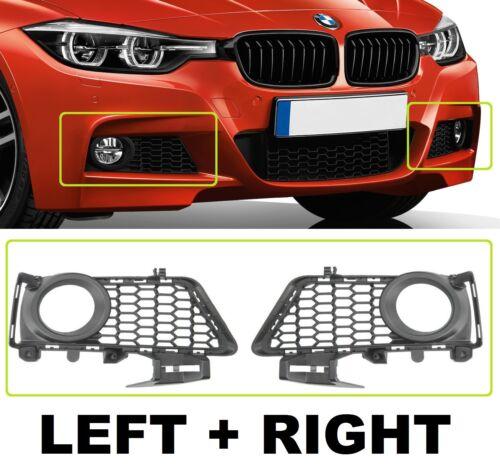 NEW BMW 3 SERIES F30 F31 2011-15 Front Bumper Fog Light Grille Set Trim Bezel
