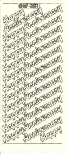 Peel off stickers-anniversaire-lot de 10-disponible en 6 styles