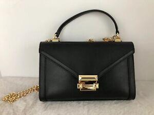 Details zu Michael Kors Whitney Polished Leather Top Handle Small Shoulder Bag Satchel