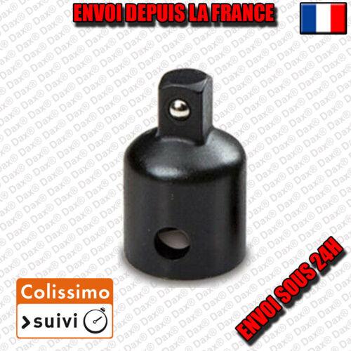 Adaptateur convertisseur réducteur augmentateur 3//8 Femelle VERS 1//4 Male BLACK