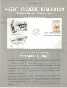 1187-4c-Remington-Stamp-Poster-Unofficial-Souv-Page-Ft-w-ArtCraft-FDC