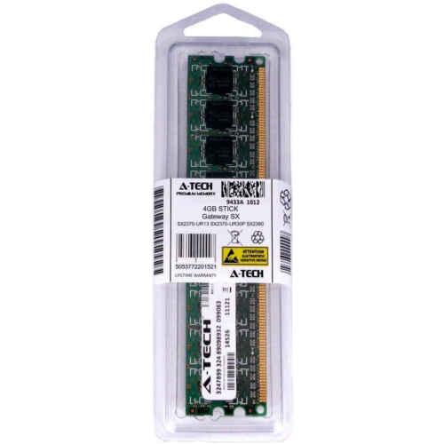 4GB DIMM Gateway SX2370-UR13 SX2370-UR30P SX2370-US10P SX2380 Ram Memory