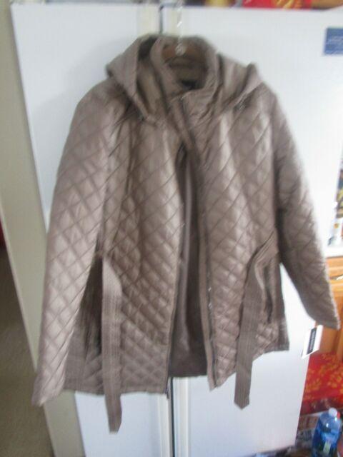 Black LONDON FOG London Fog Women/'s Plus-Size Mid-Length Faux-Fur Collar 2X