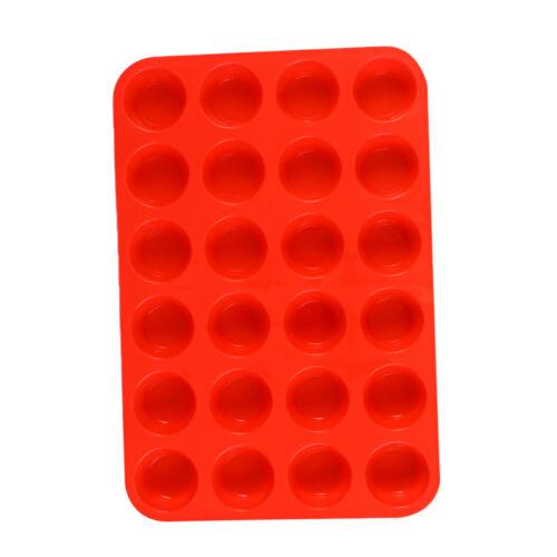 24 Tassen Silikon Backform Kuchenform Muffinform Muffinförmchen Muffinbackform