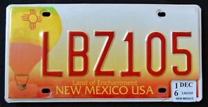 NEW-MEXICO-034-BALLOON-LAND-OF-ENCHANTMENT-034-2016-NM-Graphic-License-Plate