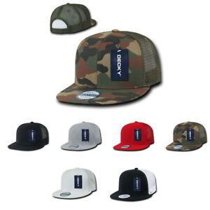 2c85092d832d2 Decky Flat Bill Trucker Baseball 6 Panel Constructed Caps Hats Camo ...