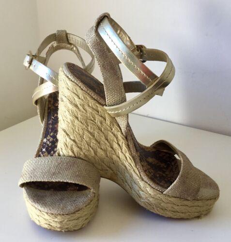 zeppa Sandali Bcb cinturino 4 Gold alla caviglia Generation con Metallic 37 con pelle Vvgc in Size 6rW1Uf6xq