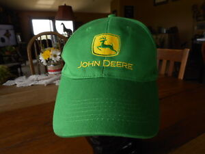 John-Deere-Tractor-Trucker-Hat-Vintage-Snapback-Green-baseball-cap-hat-preowned