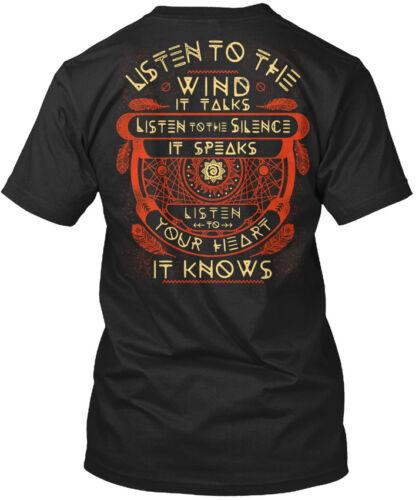 It Talks Silence Standard Unisex T-shirt Machine washable Listen To The Wind