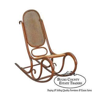 Enjoyable Thonet Vintage Antique Bentwood Rocker Rocking Chair Ebay Interior Design Ideas Inamawefileorg