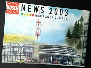 """100% Vrai Busch Prospectus """"news 2003"""", Din A4, 12 Pages, Neuf!"""