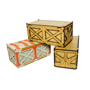 Details about Pack of 6 Shipping Containers 28mm wargame sci-fi modern  Infinity terrain