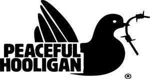 Peaceful Hooligan Ii Logo Vinyl Decal Sticker Clothing Football Vw Jdm