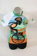 New Primal Womens Team Bio-Rad Bike Green Short Sleeve 2XL Raglan Cycling Jersey