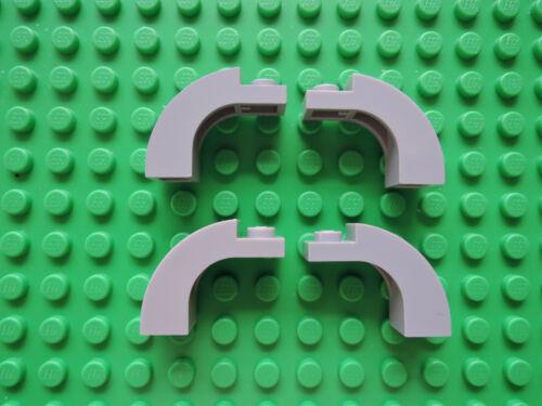 Lego 4 x arco puente de piedra semi arco 6005 1x3x2 nuevo gris claro