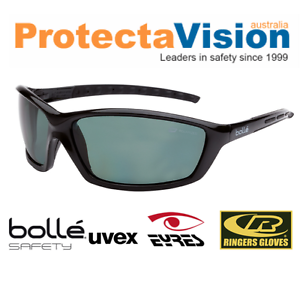 5ede59921a Image is loading Bolle-PROWLER-POLARISED-Safety-Glasses-Sunglasses-Med- Impact