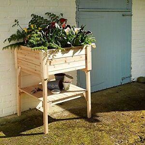 Wooden Vegetable Flower Bed Raised Planter Free Standing Trough Garden Outdoor 5055552019104 Ebay