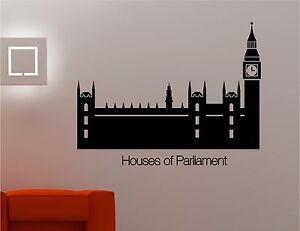 Camere del parlamento big ben adesivi artistici da parete for Camere parlamento