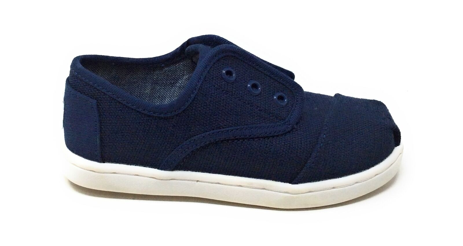 Toms Tiny Baby Cordones Sangle Dentelle Crib Chaussures Bleu Marine Heritage Toile Taille 9 T